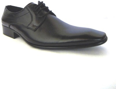 A Cheval Official Black Lace Up Shoes