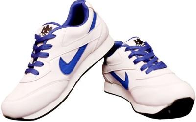 Hitmax WHT&BLUE Cricket Shoes