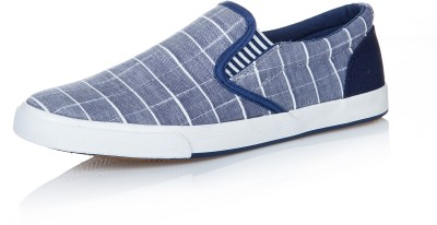 Seastar Sider Checked Weave Slip On Canvas Shoes