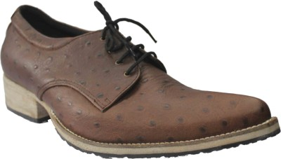 Authority Ostrich Brown Lace Up Shoes