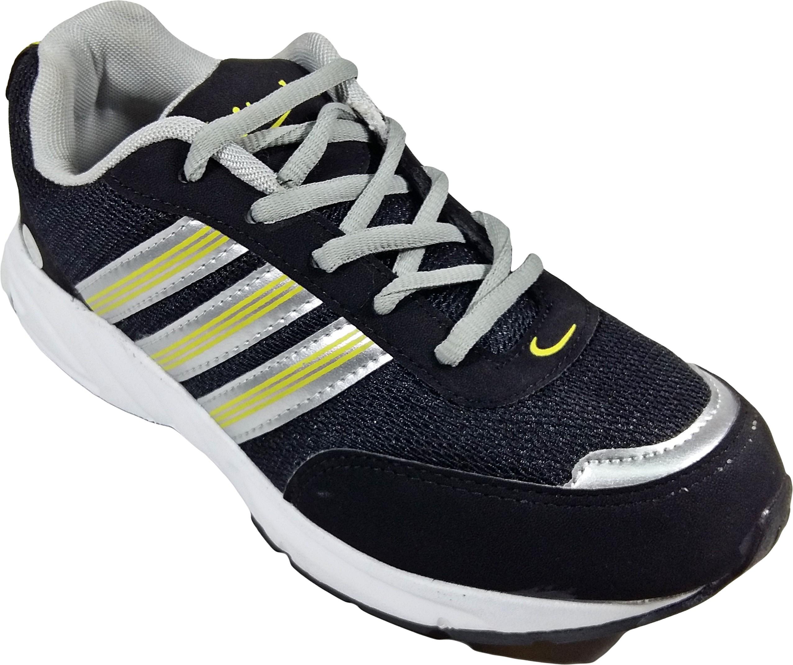 WBH Black Yellow Sports Running Shoes