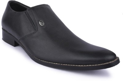 Buckleup MENS LEATHER SHOES BU1100-S_BLACK-Size-8 Slip On(Black)