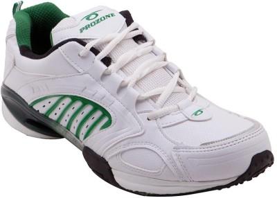 Prozone Men Stylish Fancy White Green Sports Running Shoes
