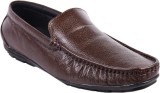 Leather Wood Loafers (Brown)
