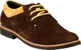 GAI Brown Leather Casual Shoes (Brown)
