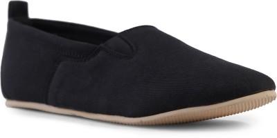 Shumael Black Canvas Shoes