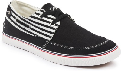 Pure Play BoatStripe-Black Sneakers
