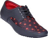 Centto Canvas Shoes (Black, Red)