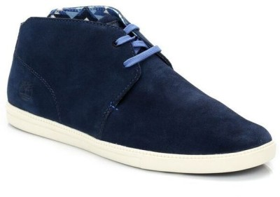 Timberland Mens Navy Earthkeepers Fulk Mid Suede Boots Casual Shoes