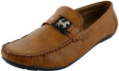 VOGUE GUYS tan eagle loafer Loafers
