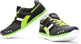 Elligator Running Shoes (Black, Green)
