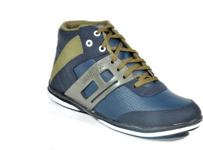 Kohinoor Stylish Ankle Blue Casual Shoes