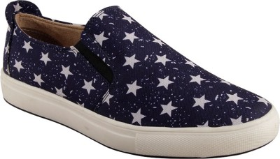 Ziera Starlet Navy Blue Casual Slipon Shoes Casuals