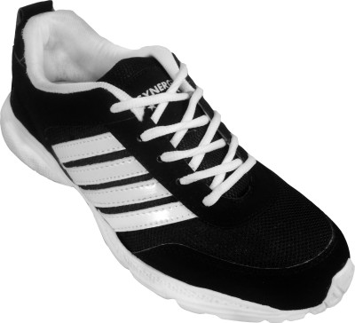 Action Synergy 7152 Black/White Sports Walking Shoes