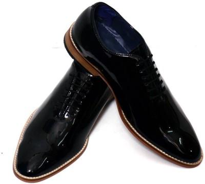 Adler Black patent leather Elegant Lace Up