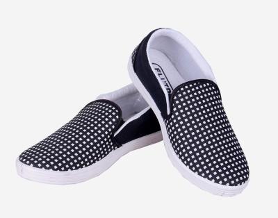 Fluid Black Check Canvas Shoes