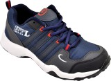 Hitcolus Navy Blue & Red Running Shoes (...