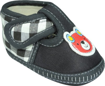 Ole Baby Checkered Print With Teddy Bear Applique Casual Shoes