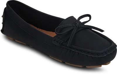 Kielz Black-Synthetic Leather-Ladies Loafers Loafers(Black) at flipkart