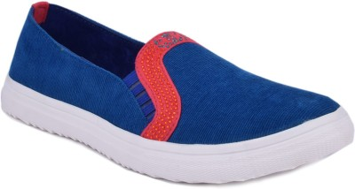 Advin England Blue & Red Sparkle Shoes Sneakers