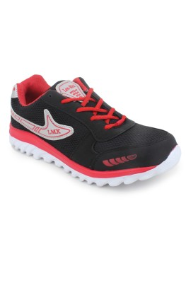 Leo-Max Black-Red Men Sports Running Shoes