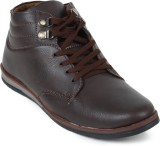 Footrest Casuals Shoes (Brown)