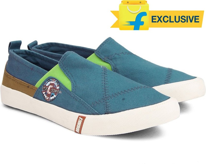 Lee Cooper Men LoafersBlue Green