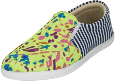 Advin England Green Printed Casual Shoes Casuals