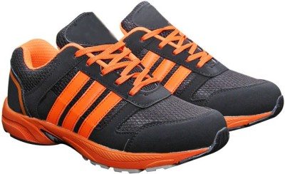 Parbat Nova-Orng-Strips Running Shoes