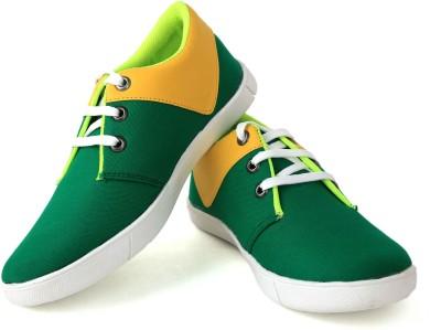 Felando 411-Green-5 Canvas Shoes