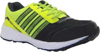 Stepin Soles Galaxy-3 Green/Black Running Shoes