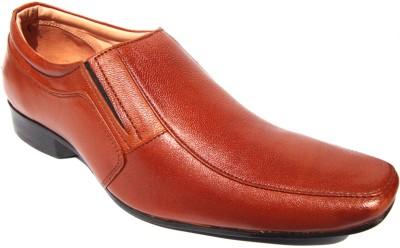 JK Port Wx0010 Formal Leather Slip On Shoes(Tan) at flipkart