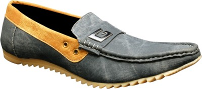 Oora Black Double Shade Loafers