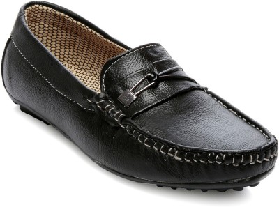 TEN Black Faux Leather Loafers Casuals