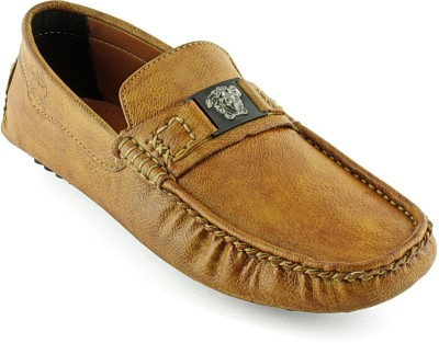 Devee Fox Front Strap Tan Loafers