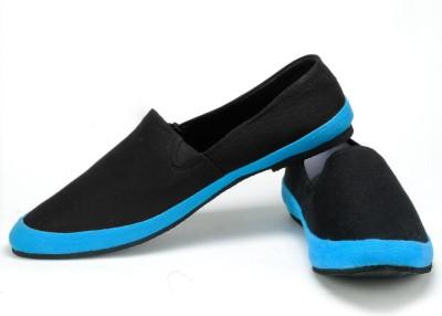 FUNK Zoben Black Canvas Shoes
