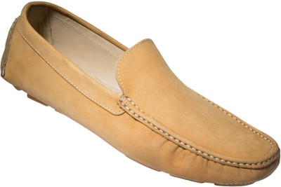 Zovi Khaki Stan Driver Nubuck Premium Leather Shoes Loafers
