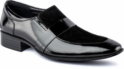 Nudo Black Slip On Party Wear Shoes