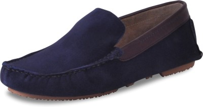 Harper Woods Black Suede Classic Driving Shoes