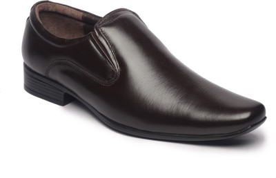 Feather Leather Genuine Brown Slip On Shoes