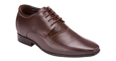 Elevato Brown Fabio Formals Height Inreasing Shoes Lace Up