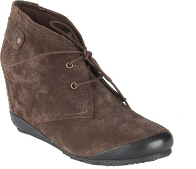 Salt N Pepper 11-617 Cynthia Dark Brown Boots Casual Shoes
