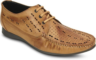 Get Glamr Perforated Lace Ups Boat Shoes