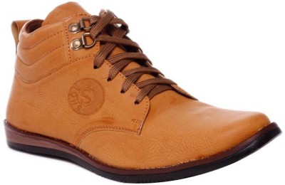 Flute Brown Ankle Length Shoes Casuals