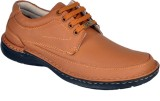 Leather Wood Casual Shoes (Tan)