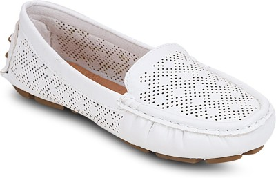 Kielz White-Synthetic Leather-Ladies Loafers Loafers(White) at flipkart
