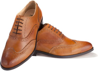 Walker Styleways Classic Tan Leather Brogue Lace Up Shoes
