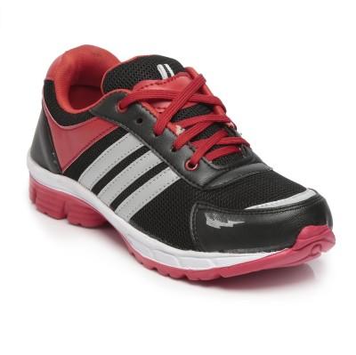 TEN Black::Red Mesh Sports Shoes Running Shoes