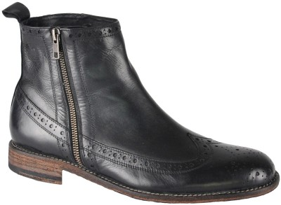 Salt N Pepper Ray Black Mid Ankle Boots