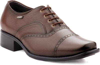 Zebra Men's Regular 100% Pure s.Leather New Edition Tan Formal Shoes. Lace Up